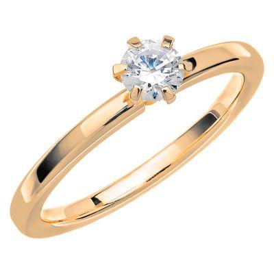 Vigselring Love 01 med en diamant 0,35ct.