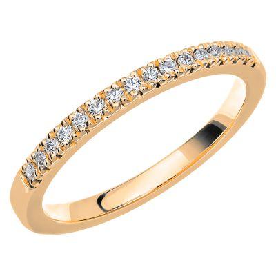 Vigselring Love 09 med 16 diamanter.