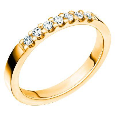 Alliansring Lycka med 7 diamanter.