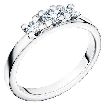 Vigselring Glittra med 3 diamanter.