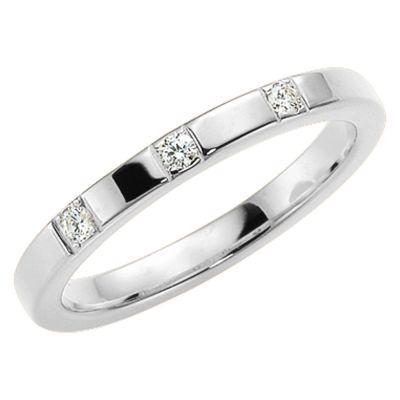 Vigselring med 3 diamanter från serien Passion.