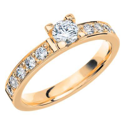 Vigselring PK13 med 11 diamanter.