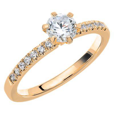 Vigselring Love 02 med 15 diamanter.